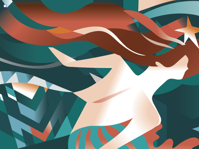 a close-up of the Mural for Starbucks Reserve shop | 2019 vector illustration