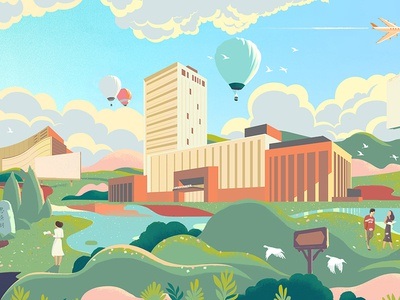 Shanghai JiaoTong University illustration