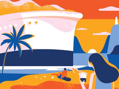 Holiday 01 card vector illustration