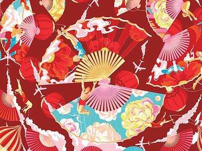 ESTEE LAUDER 2019 CNY vector illustration