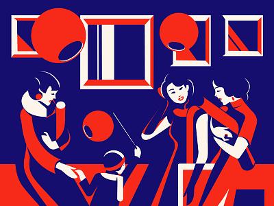 Happy lunar new year vector illustration