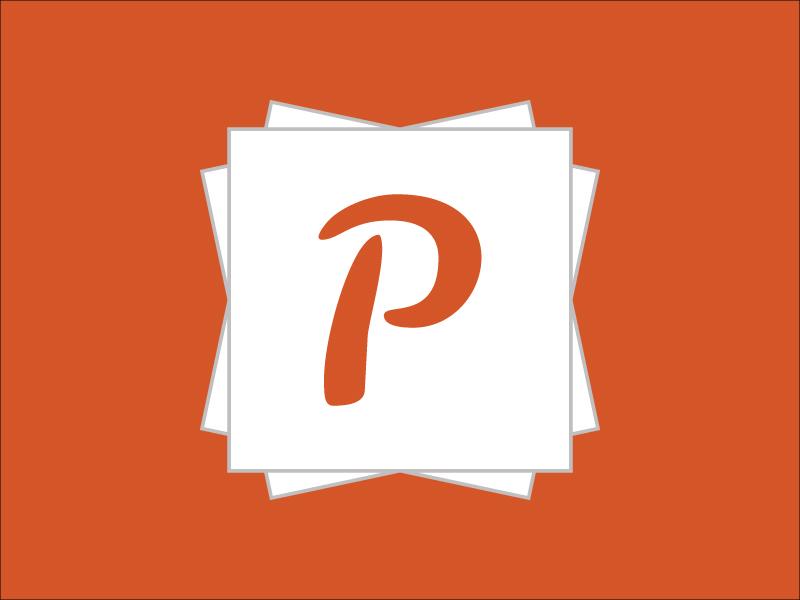 Picsule - Logo picsule photo album logo app orange picture capsule crowd