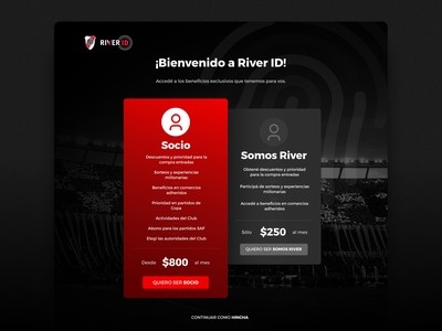 ⚽ River ID | Pricing Table football club football landing page web argentina design pricing table river plate river pricing page pricing