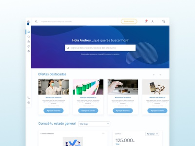 Drogueria del Sud - Main Page website design ui web ux argentina