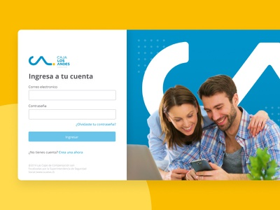 Caja Los Andes: Services - Login design ui web website chile login page login
