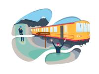 Yellow train Canyoning