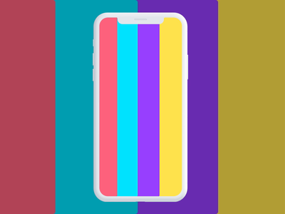 App interaction concept bar coloful animated concept ui mobile prototype transition interaction floating button tab bar