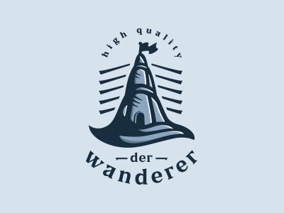 lighthouse wave flag blue guide light water ocean sea lighthouse branding design concept vector illustration brand logo