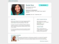 DailyUI - #006 - User Profile