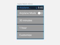 DailyUI - #007 - Settings (Apple Watch/Airplane Mode)
