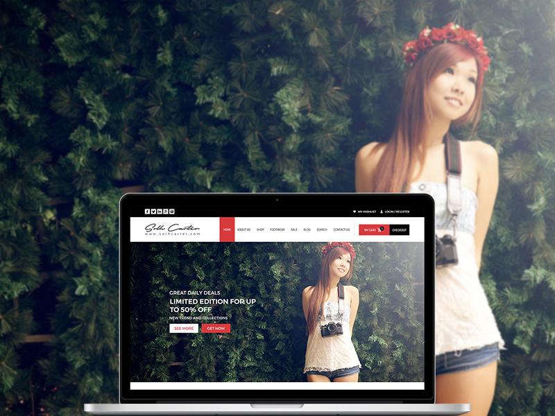 Solh Carter | Website Design layout template ui home typography web design webpage responsive cloths clothing website
