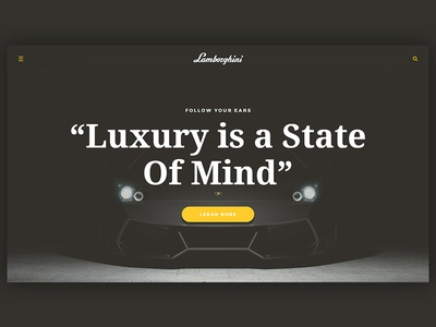 Lamborghini Website Concept - Work in Progress