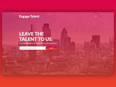 Engage Talent - Website Design