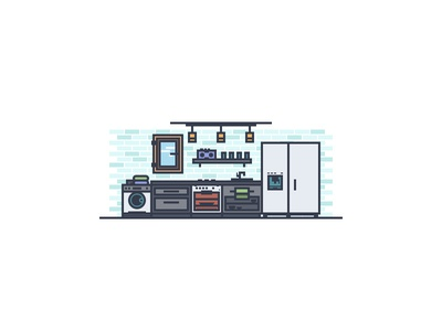 Modern Kitchen Illustration