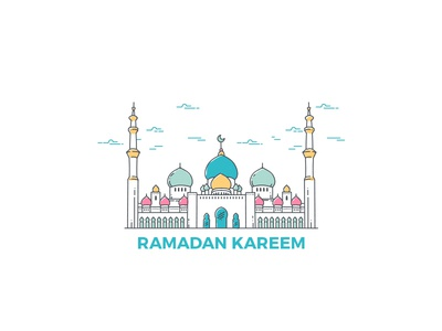 Ramadan 2017 eid mosque holy ramadan islam illustration icon design designer vector graphic design drawing