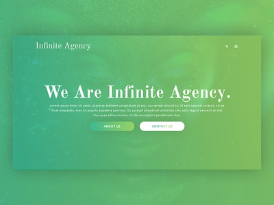 Infinite Agency / Agency Website Design