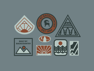 Assets branding vintage patch patches design typography logo utah backcountry outdoors