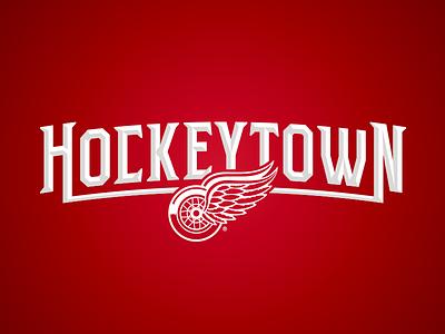 Hockeytown logo hockeytown hockey red wings detroit