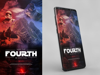 May the Fourth Be With You Poster Design starwarsday maythe4thbewithyou maythe4th star wars poster design unsplash photo composition photoshop design