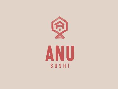 Anu Sushi sushi design logo
