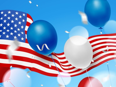 4th of July 4th of july celebration template event america 3d illustration balloon flag independence usa vector