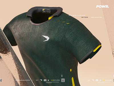 Sportswear 3d sportswear tshirt clothing blender render fashion branding apparel futuristic sport fabric