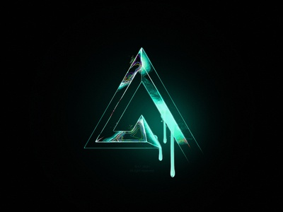A7 monogram illustrator illustration photoshop mark logo liquid neon