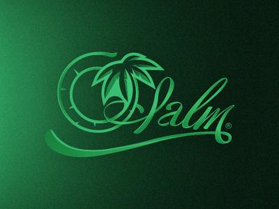 Palm tropical green shoelace 3d logo lettering typography vape juice vape palm