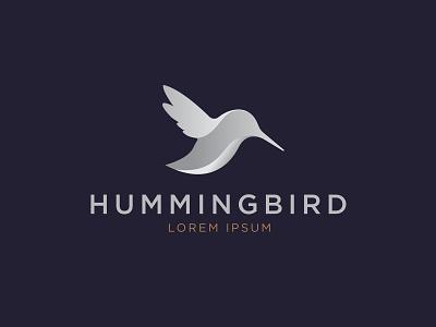 Hummingbird mark branding minimal gradient hummingbird bird logo illustration