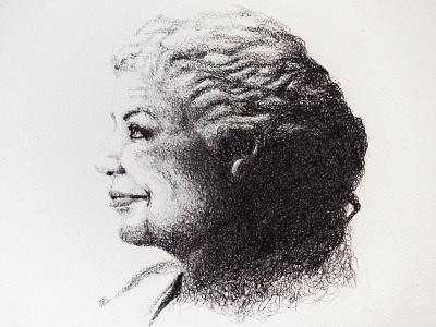 Toni Morrison traditional art illustration portrait remarkable woman author toni morrison books black woman woman design line art literature nobel prizes