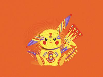 Pikabrije pika fanart pokemon trainer gamer logo geek alebrijes mexican art decoration painting design illustration kawaii artesanía mexico alebrije pikachu pokemongo pokemon
