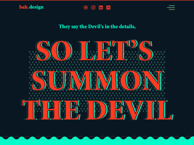 Devil's in the Details