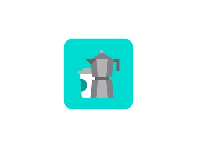 Espresso maker ui icon coffee