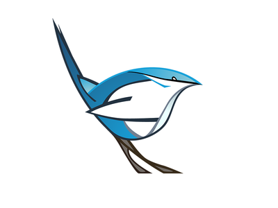 Blue Wren blue wren bird illustration vector logo