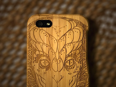 iPhone Case (Grovemade) grovemade grove case iphone bamboo illustration alien wood
