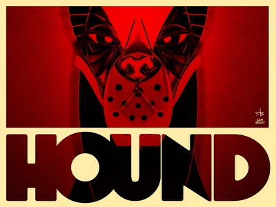 Hound band poster hound dog animal illustration noise vignette doberman muzzle