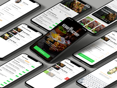 Kebab Factory Iphone App connect delivery app delivery order photography food and drink food app food kebab website minimal web app icon branding advertising ux ui design
