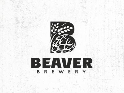 BREWERY LOGO beaver malt hop logo beer brewery
