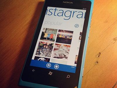 Instagram - Popular icon icons ui design app splash screen instagram lumia mango mobile phone windows windows phone winphone wphone wp7 nokia interface concept