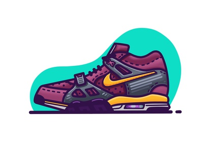Nike Air Trainer 3 'Viotech' basketball street viotech fashion nike procreate sneakers shoes illustration