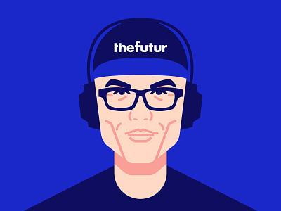 Chris Do vector flat portrait line art minimal illustration character people futur chris do