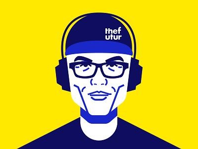 Chris Do II chris do futur people character illustration minimal line art portrait flat vector