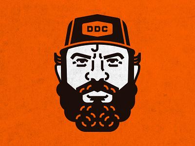 Aaron Draplin draplin portrait character vintage people logo vector minimal illustrator illustration