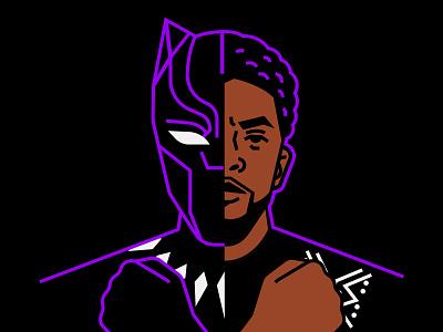 Chadwick Boseman minimal comics character people diversity wakanda chadwick boseman black panther
