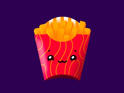 Anyone craving for some fries?🍟 procreateapp character cute fast food illustration food illustration procreate food fries