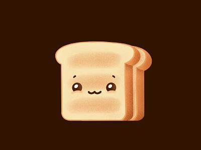 Breadfella 🍞 food illustration character illustration procreate illustrator cute toast bread food