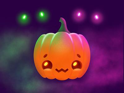 Happy Halloween Guys! 🎃👻 cute procreate illustrator illustration character spooky halloween pumpkin