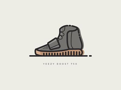 Yeezy Boost 750 kanye illustration vector shoes sneakers yeezy