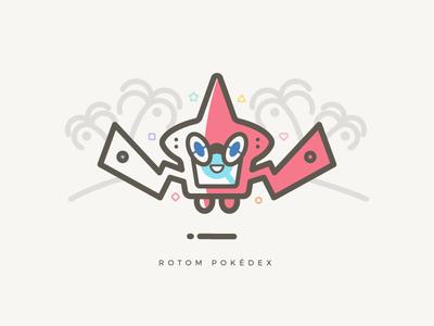 Rotom Pokedex moon sun illustrator illustration vector anime pokemon pokedex rotom