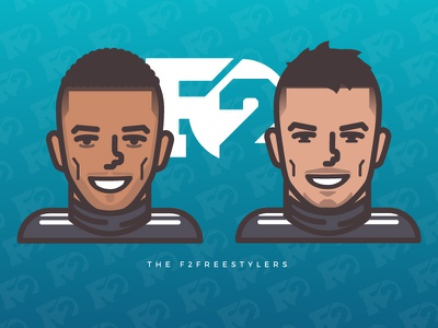 The F2 Freestylers illustrator goal illustration vector f2 jezza billy sports soccer football